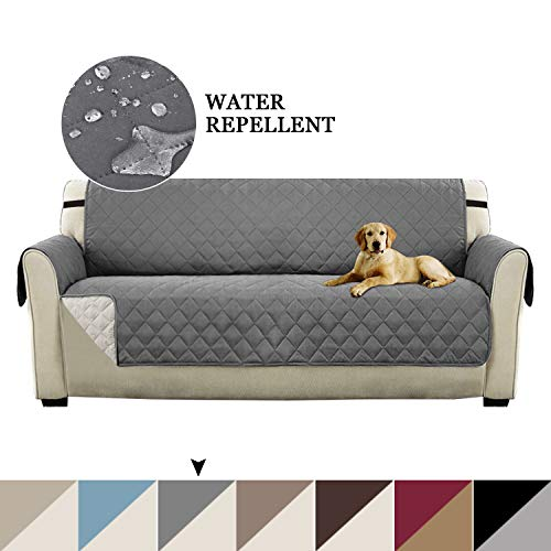Dog Couch Covers - Turquoize Reversible Sofa Protector Slip Resistant Sofa Slipcover Protector with 2