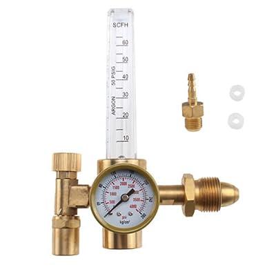 Argon CO2 Mig Tig Flow meter Welding Weld Regulator Gauge Gas Welder Part CGA580