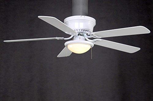 Hampton Bay AL383-WH Hugger 52 inch Low Profile White Dome Light Ceiling Fan