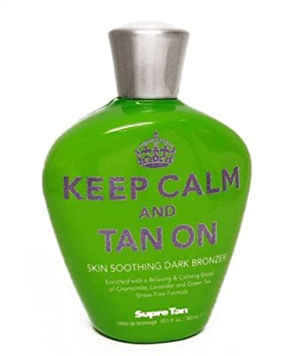 Supre KEEP CALM AND TAN ON Dark Bronzer - 10.1 oz.
