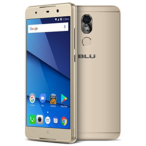 BLU Grand 5.5 HD II G210Q 16GB Unlocked GSM Dual-SIM Android Phone w/ 13MP Camera - Gold by BLU