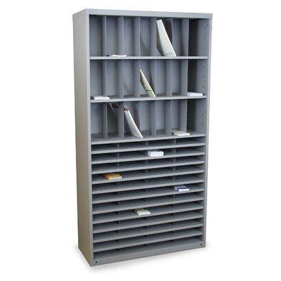 Mailroom Horizontal/Vertical Sorter with 69 Pockets Finish: Slate Gray
