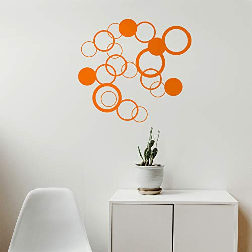 (Set of 20 Vinyl Wall Art Decals - Circle Shapes - from 5