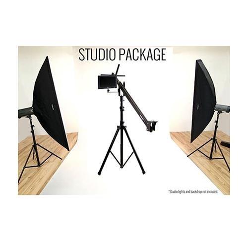 4' Camera Mounting Bracket - ProAm Orion Jr DVC60 4' Studio Production Package, Includes DVC60 4' Crane, Tilt Brake, Stand, 10
