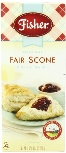Fisher Original Fair Scone & Shortcake Mix, 18-Ounces (Pack of 6)