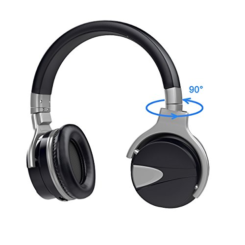 USTEK Wireless Headphones, Active Noise Cancelling Headphones Bluetooth Headphones with Mic Deep Bass Wireless Headphones,Over Ear Bluetooth Stereo Headphones with Microphone Adjustable Earphones ANC by USTEK (Image #4)