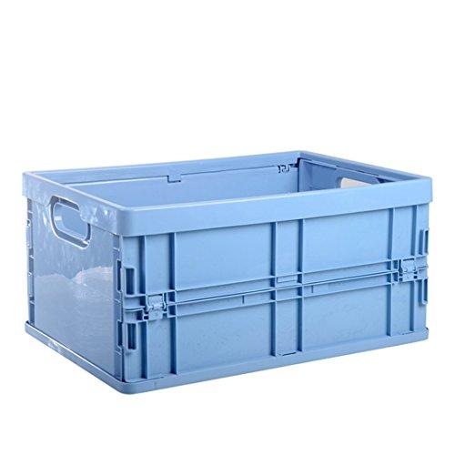 Itechor 13.19X 9,64X 5.71in ropa contenedor plegable plástico caja de almacenamiento Home Sundries Organizer, Azul