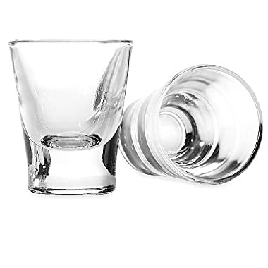Circleware Austria Clear Heavy Base Shot Glass Set, 2 Ounce, Set of 6, Limited Edition Glassware Serveware Drinkware Barware Whiskey Scotch Liquor Drinking Glasses cups