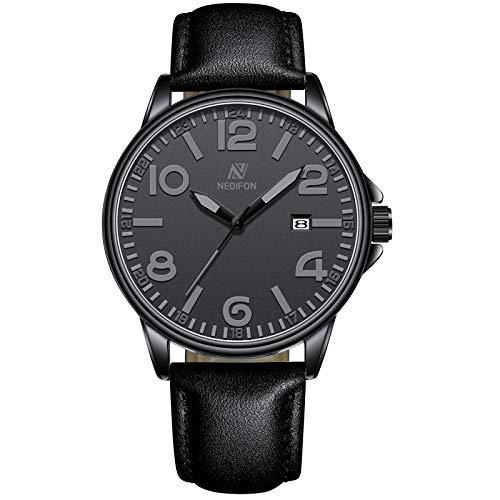 Men Watches Fashion Quartz Analog Watch Leather Brand Casual Wrist Watch Minimalist Ultra-Thin 30M Waterproof Watch