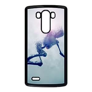 LG G3 Cell Phone Case Black_robot in water illust 3d art Rtnza