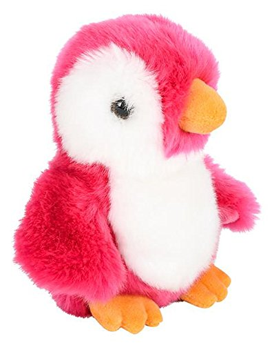 ffed Pink Penguin Plush Floppy Animal Heirloom Neon Collection ()