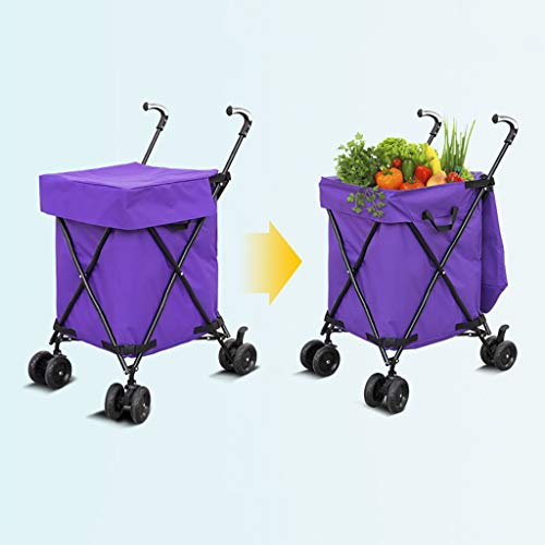Hotel cart, Three-Second Folding Towel Storage Box Hotel Room Service car Hair Trolley (Color : A) by HT trolley (Image #2)