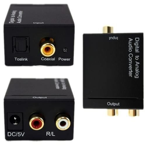 Convertidor Audio Digital Toslink Coaxial A Analogo Rca