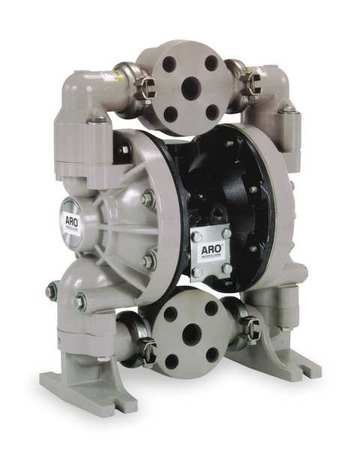 1'' Polypropylene Air Double Diaphragm Pump 47 GPM 150F by Ingersoll-Rand