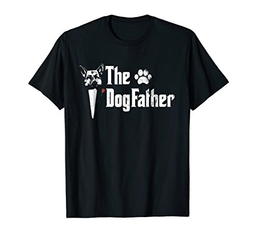 - Mens The Dogfather German Shepherd Dog Dad Tshirt Father's Day
