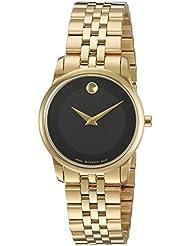 Movado Womens 0607005 Analog Display Swiss Quartz Gold Watch