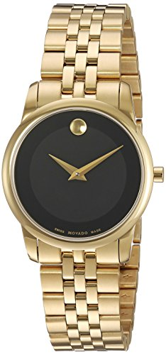 Movado Swiss Quartz Gold-Tone-Stainless-Steel Casual Watch, Color:Gold (Model: 0607005)