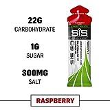 Science in Sport Energy Gel Pack, SIS Energy Gel + Electrolyte, 22g Fast Acting Carbs, Performance & Endurance Gels, Raspberry Flavor - 2 Oz. (30 Pack)