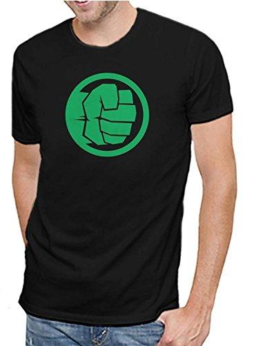 Marvel Comics Avengers Incredible Hulk Logo Men's Soft Black T-Shirt - Incredible Hulk Tshirt