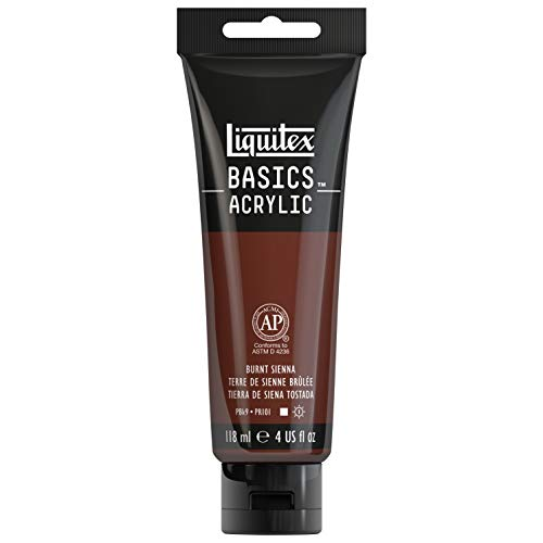 Liquitex BASICS Acrylic Paint, 4-oz tube, Burnt Sienna