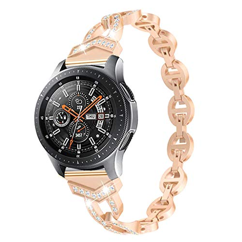 - certainPL Replacement Band Compatible Samsung Galaxy Watch 42mm, Sparkle Metal Watch Band Strap for Samsung Galaxy Watch 42mm (Rose Gold)