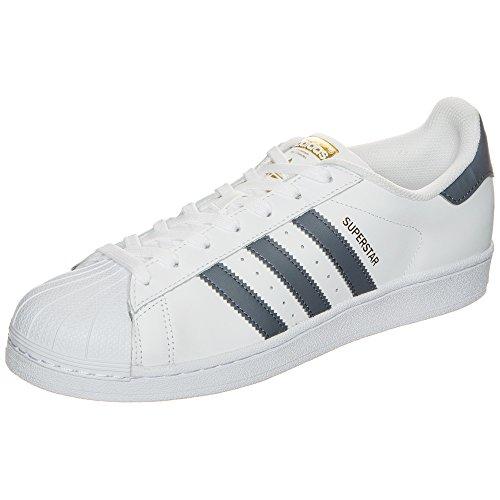 Adidas Superstar, Scarpe da Ginnastica Uomo, Bianco (Ftwbla/Onix/Dormet), 46/47 EU