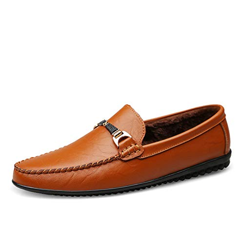 Dimensione barca Scarpe Brown Dark 43 da Red Fitting Ofgcfbvxd Warm Brown Mocassini Leggero Wider Slip EU Mocassini Mocassini On scarpe da Color per casual uomo H6Rzpq