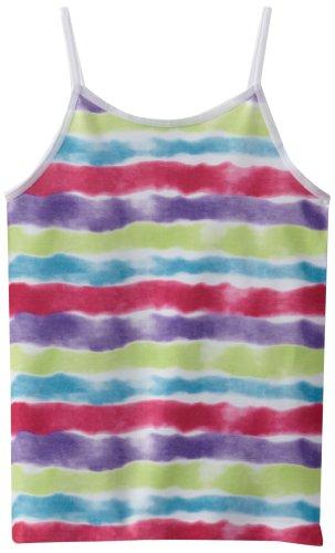Miss Majesty Big Girls'  Rainbow Tie Dye Seamless Cami Tank, Fuchsia Pink/Deep Lavendar, Medium