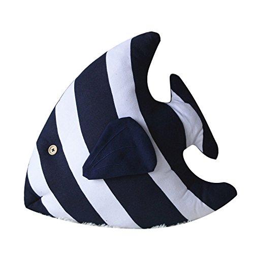 (Fish Design Plush Toy Soft and Comfortable Cotton Plush Pillow (Tropical Fish(Blue)))