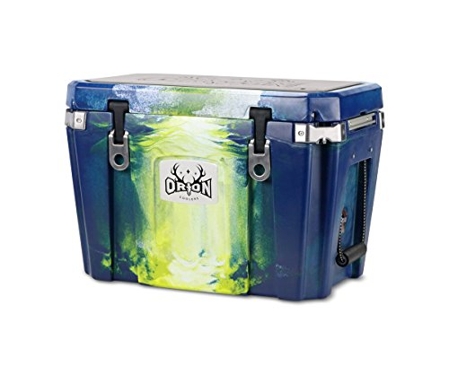 ORION Heavy Duty Premium Cooler (45 Quart, Navy-White-Yellow), Discounted 2017 Colors, Durable Insulated Ice Chest for Maximum Cold Retention – Portable, Bear Resistant, and Long Lasting For Sale