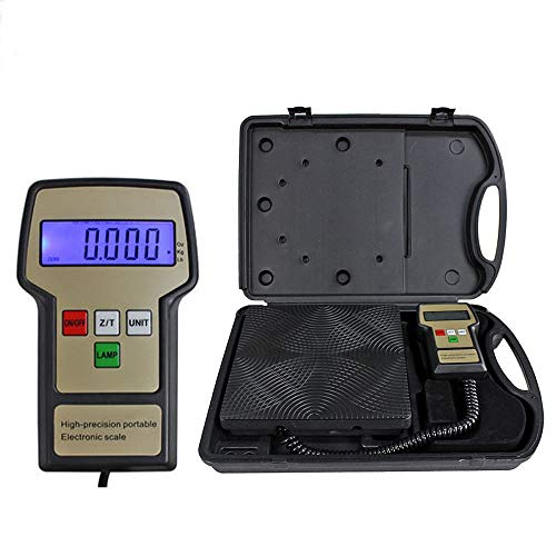 Siamchoice24 Scale Refrigerant Electronic Charging Digital HVAC Weight Case 220 Lbs 220lbs 220lb W C New Electric RCS 7040 Meters Portable