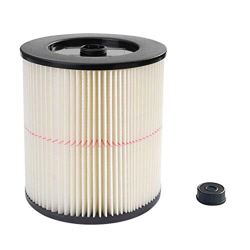 17816 9-17816 Red Stripe Vacuum Cartridge Filter Compatible Craftsman Shop Vac, 8.5 Inches- White/Red