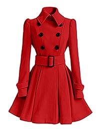 Women Woolen Thick Warm Winter Long Coat Hood Overcoat Jacket Outwear