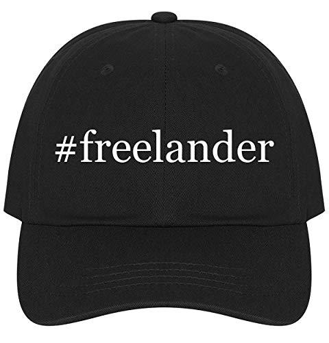 The Town Butler #Freelander - A Nice Comfortable Adjustable Hashtag Dad Hat Cap, Black
