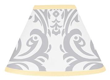 Amazon sweet jojo designs yellow gray and white damask print sweet jojo designs yellow gray and white damask print avery lamp shade for unisex girl aloadofball Image collections