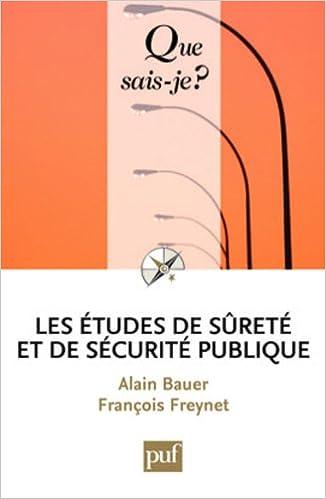 Lire Les études de sécurite publique pdf epub