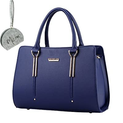 Micom 2017 Summer Womens Pure Color Pu Leather Boutique Tote Bags Top Handle Handbag