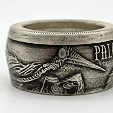 Pure Silver Angel et serpent dragon Archange Micheal Ring