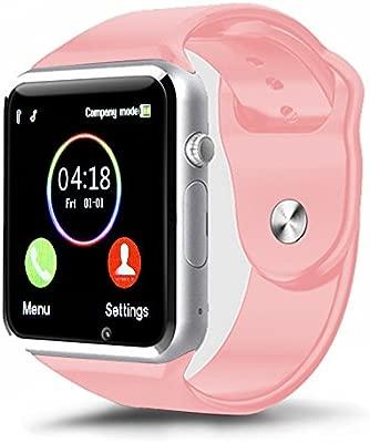 Kivors Reloj Inteligente A1 Bluetooth Smartwatch con TF/Ranura de Tarjeta SIM para Usar como Teléfono Móvil, con Rastreador de Actividad, Sueño, ...