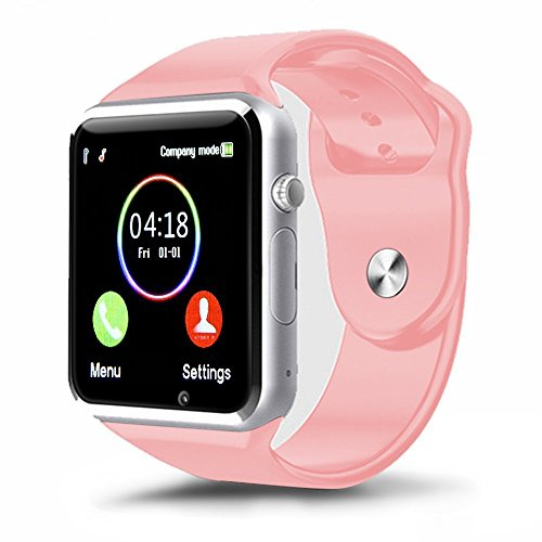(Padgene Bluetooth Smart Watch GSM Phone Watch with Camera for Samsung Nexus HTC Sony and Other Android Smartphones, (Pink))