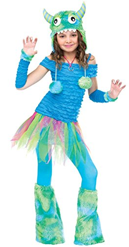 Fun World girls Big Girls' Blue Beastie Monster Costume Medium (Monster Costumes For Girls)