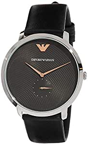 Emporio Armani Men's AR11162 Blue Analogue Wrist Watch, Black, Large