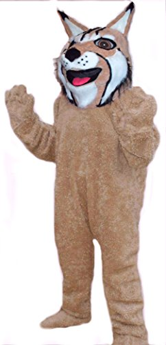 Mascots USA by CJs Huggables Custom Pro Low Cost Lynx Wildcat Mascot Costume