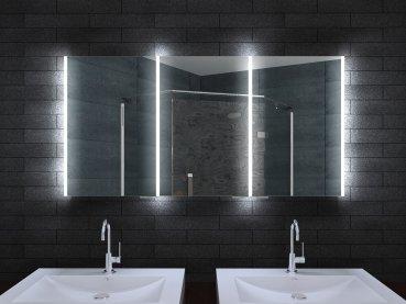 Aluminium Badschrank badezimmer spiegelschrank bad LED Beleuchtung ...