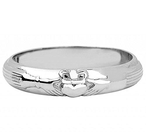 Silver Wedding Claddagh Ring (7)