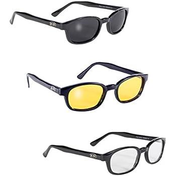 8d417a973a Pacific Coast Original KDs Biker Sunglasses (Black Frame Dark Green Lens) Pacific  Coast Sunglasses Inc. 2126