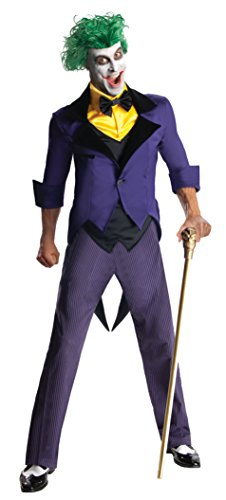 Rubie's Costume Men's Dc Super Villains Adult Joker, Yellow/Purple, Large - The Joker Costume Classic