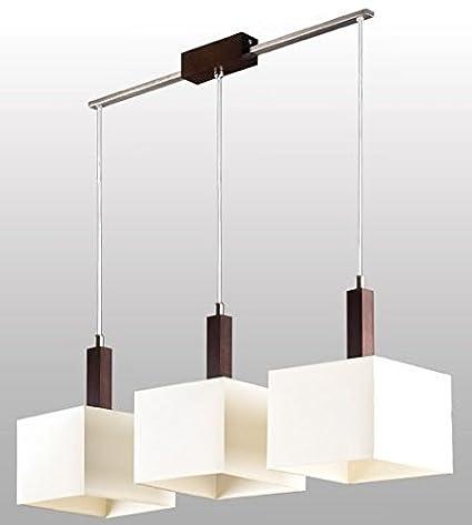 Bauhaus - Lámpara de techo (3 focos, diseño Hogar, en color ...