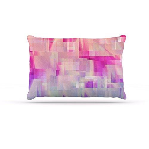 Kess InHouse Gabriela Fuente Happy X-Mas Red Geometric Illustration Fleece Dog Bed, 30 by 40