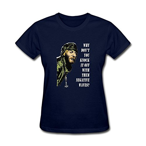 ZhiBo Why Don't You Knock It Off with Them Negative Waves for Kelly's Heroes Custom T-shirt for Woman Royal Blue Small